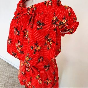 Flowered two piece